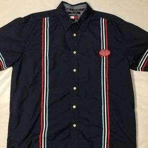 Vintage Tommy Hilfiger Jeans Button Up Tshirt